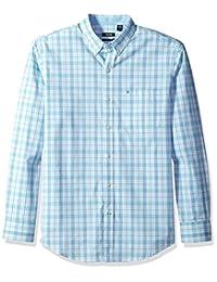 IZOD 男式 Essential tattersall 长袖衬衫常规 & 修身 )