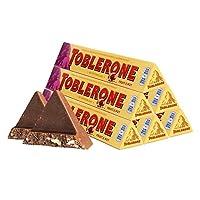 TOBLERONE 瑞士三角 牛奶巧克力含葡萄干及蜂蜜巴旦木糖100g*6(瑞士进口)