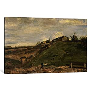 iCanvasART 14407-1PC6 The Hill at Montmartre with Stone Quarry Canvas Print by Vincent Van Gogh, 1.5 by 26 by 40-Inch