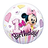22 英寸米妮老鼠 1 周岁生日气球