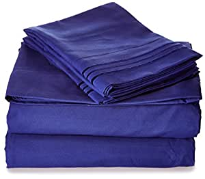 Elegant Comfort 1500 Thread Count Egyptian Quality Wrinkle and Fade Resistant 3-Piece Duvet Cover Set, King/California King, Royal Blue