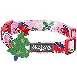 Blueberry 宠物圣诞狗项圈 - 常规项圈或个性化金属螺纹项圈 Secret Garden Regular Collar - Small