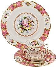 Royal Albert 15135002 Lady Carlyle餐具五件套 适合单人使用