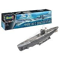 Revell 05166 德国潜艇 Type IX C U67/U154 原装模型套装 适用于高级 多色 1/72