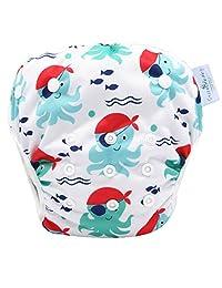 婴儿头巾 drool 围嘴带卡扣4支装男孩礼品套装适用于出牙运球和喂养100% 有机棉