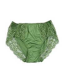 Lasricas 女式加大码内裤高剪裁全包内裤蕾丝边牛奶蛋白纤维内裤