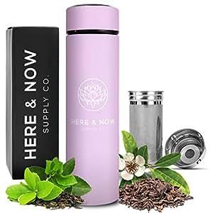 多功能旅行杯和杯子   茶壶水瓶   水果注入瓶   热和冷双层不锈钢咖啡保温器   由 Here & Now Supply Co. 出品 Gentle Lilac