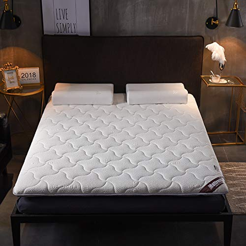 水漾 床垫床褥1.8x2.0米家用垫被1.5m褥子加厚垫子防滑保护垫1.2 面包款白色(6cm厚) 1.2×2.0米床