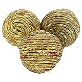 Bonka Bird Toys 海草绳椰子纤维香蕉叶球套装玩具鹦鹉锻造*工艺部件沙龙笼 Seagrass Rope Ball 3 Pack