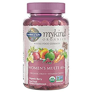 Garden of Life 生命花园 mykind 女性复合维生素软糖 - 莓果口味 - 120粒果味软糖 Women over 40 120 Vitamin Gummies 120