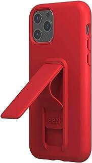 Wild Flag Eezl 手機殼專為 iPhone 11 Pro(5.8 英寸)設計 - 超薄,堅固的 8 英尺防摔,縱向/橫向支架,*指環抓握,兼容無線充電(美國保修) 紅色