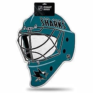 Rico Industries NHL 圣何塞鲨鱼曲棍球头盔模切旗帜装饰