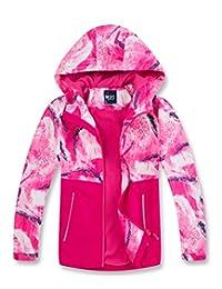 M2C 男孩女孩连帽拼色防水羊毛内衬风衣夹克