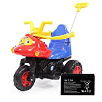 lekang儿童电动摩托车宝宝电动车婴儿玩具手推车可坐三轮车电瓶童车带可连接蓝牙功能8805 (红色配大电瓶)