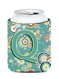 字母 Q 圆圈青色大写字母罐或瓶子 Hugger CJ2015-QCC