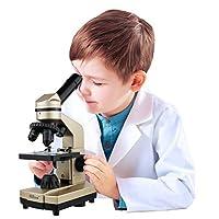 Click N' Play 儿童*科学实验室显微镜套件,配有 50 多个配件!。