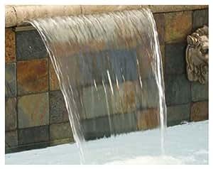 Pentair 581202ASBBF Magicfalls 水效延展式 6 英寸唇部系列圆弧板,黄铜,2 英尺