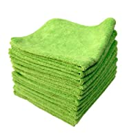 Chemical Guys MIC33312 El Gordo专业超厚Supra超细纤维毛巾 绿色 16.5 英寸 x 16.5英寸(12件套装)(亚马逊进口直采,美国品牌)