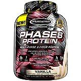Muscletech 肌肉科技 Phase8 蛋白粉, 持续释放8小时 蛋白奶昔, 香草, 4.6磅(2.09千克)