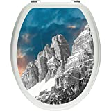 Pixxp/3D WCS 7298 32x40 美丽山地范围如厕贴纸、WC、厕盖、Gläzendes 材料、黑/白、40 x 32 厘米
