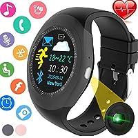 健身追蹤器智能手表帶心率*監測儀,帶步數計、*監測儀、卡路里計數器、短信和電話提醒運動戶外腕帶適合兒童女性男士