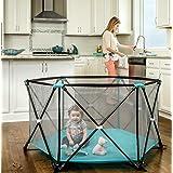 Regalo My Play 便携式游戏床带手提箱,可水洗,水蓝色,6 面