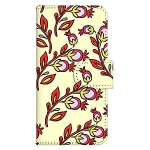 智能手机壳 手册式 对应全部机型 印刷手册 wn-631top 套 手册 花朵图案 UV印刷 壳WN-PR061451-MX AQUOS Xx2 502SH B款