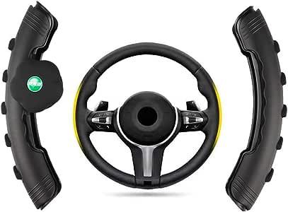 MeiDeS 方向盘套,带转轮辅助助推器辅助手柄动力手柄球通用方向盘套 双包装 黑色 MDS-FXPTZ
