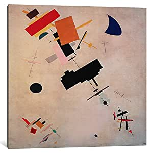 iCanvasART 1461-1PC3-37x37 Suprematist Composition No.56, 1916 Canvas Print by Kazimir Malevich, 0.75 by 37 by 37-Inch