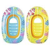 Bestway 柏威 儿童船/游泳船(3-6岁适用) 全封闭充气底座 透明视窗 34036 蓝色