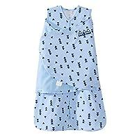 美国 HALO 赫拉 婴儿安全睡袋 包裹式 纯棉 2合1 牛仔蓝三角 S(3-6个月) 春夏薄款