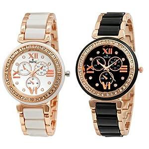 Swisstyle SS-703W-703B analog watch combo for women