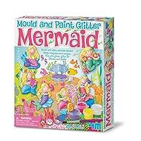 4M 石膏彩模系列 闪闪美人鱼 创意美术手工DIY玩具 进口