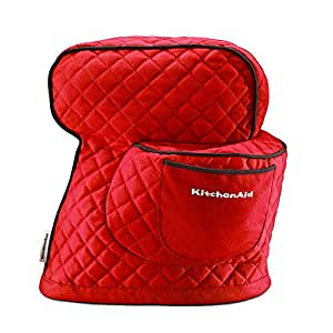 KitchenAid 凯膳怡 料理机厨师机配件4.8L抬头式专用防尘罩红色