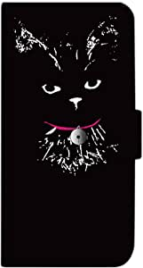 Mitas 翻盖型 带皮带 七彩 日本黑猫的麝香君SC-3995-KUJ43/XT1562 23_Moto X Play (XT1562) お座り黒猫のムッシュ君 A
