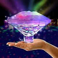 XERGUR 游泳池灯,防水浮灯,婴儿浴缸玩具彩色灯,适用于迪斯科泳池派对或池塘迪斯科,7种照明模式