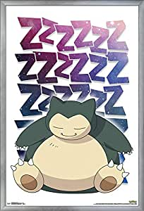 "Trends International Pokemon - Snorlax 多种颜色 24.25"" x 35.75"" FR17185SIL22X34"