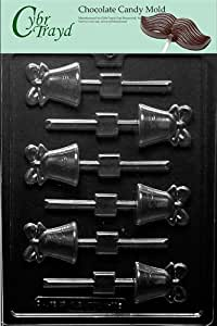 Cybrtrayd W068 Wedding Bell Lolly Wedding Chocolate Candy Mold