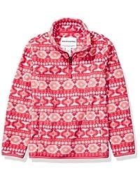 Amazon Essentials 女孩四分之一拉链摇粒绒夹克