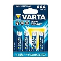 Varta 高能量 LR03 AAA 电池 1.5 伏/2400 毫安 10x 气泡包装 4 个)