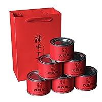 天心华富 大红袍 6罐装300g 配礼品袋 春茶 武夷岩茶 乌龙茶 茶叶 春茶 包邮