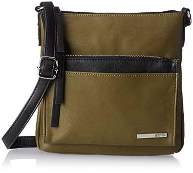 Kenneth Cole Reaction Foldover Cross Body Bag, Cadet Olive/Black, One Size