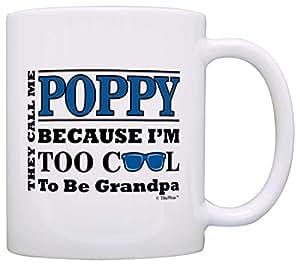 送给罂粟的生日礼物 Too Cool to Be Grandpa 礼物 咖啡杯茶杯 白色 11 盎司 COMINHKG094287