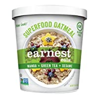 Earnest Eats Gluten-Free Oatmeal with Superfood Grains, Quinoa, Oats and Amaranth - Asia Blend - (Case of 12 - Single Serve Cups)