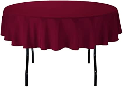 Gee DI MODA 桌布–7.62cm 圆形 tablecloths 适用于圆形桌布 IN 可水洗涤纶–非常适合 buffet 台,聚会,假期 dinner & More *红色
