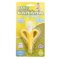 美国 Baby Banana 香蕉宝宝 硅胶 婴儿牙胶牙刷 香蕉黄色(产地 台湾)