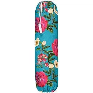塑料携带袋杂货袋分配器 - 花卉玻璃,Gnat Bank Garden 系列 - 英国设计、印制和手工制作(多色可选) 巧克力色 大 FLORALGBH002