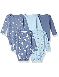 Hanes Ultimate Baby Flexy 长袖连体衣 5 件套