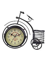 Berry President® 古董工艺复古风格自行车书桌和书架时钟 现代家庭办公室装饰桌面 展示装饰 D-金色 43237-2