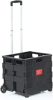 Stewart Superior Roller Case New Heavy Duty 购物袋 Box 拉杆随身 enklapp Bar 黑色 42 cm